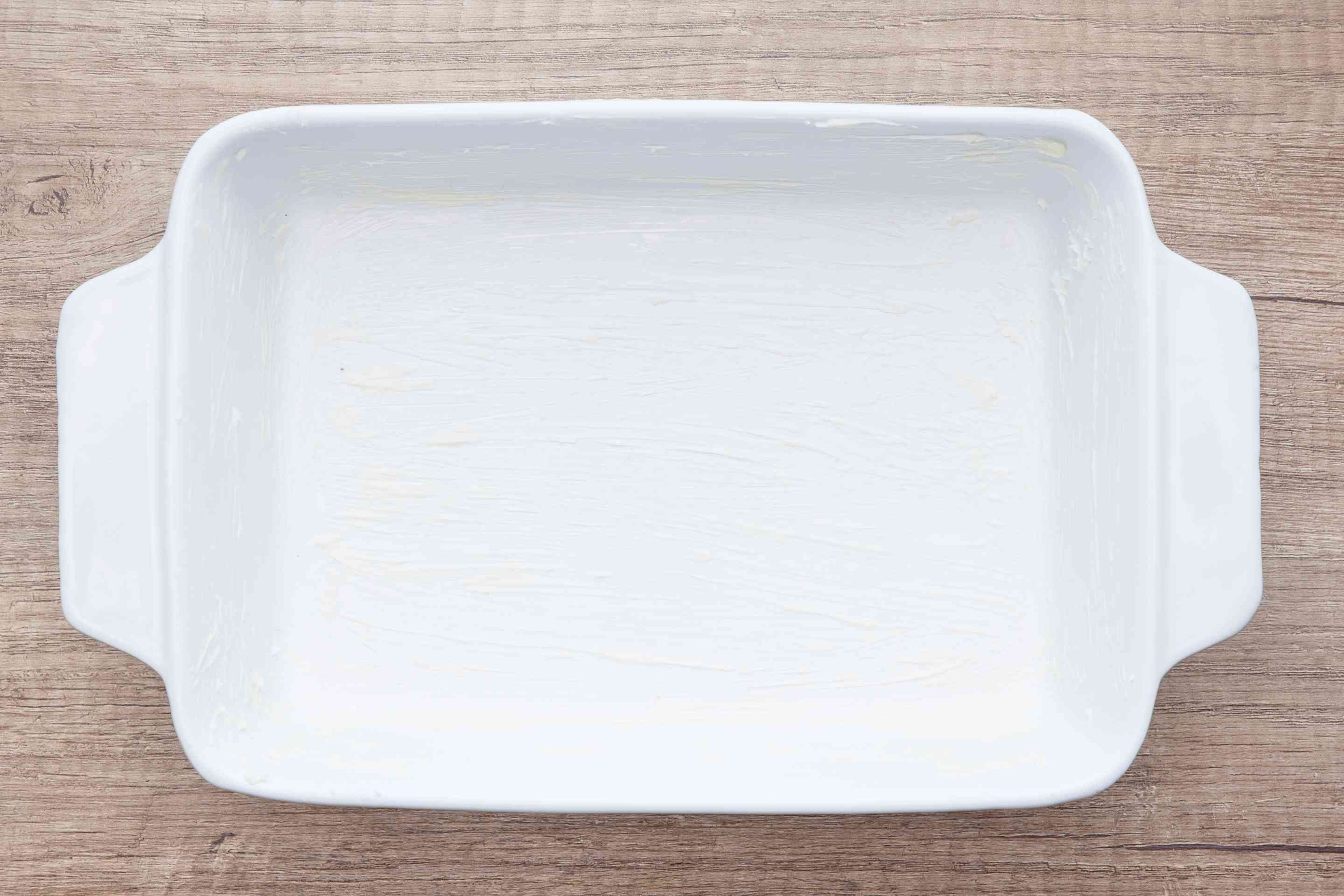 Lightly butter baking dish