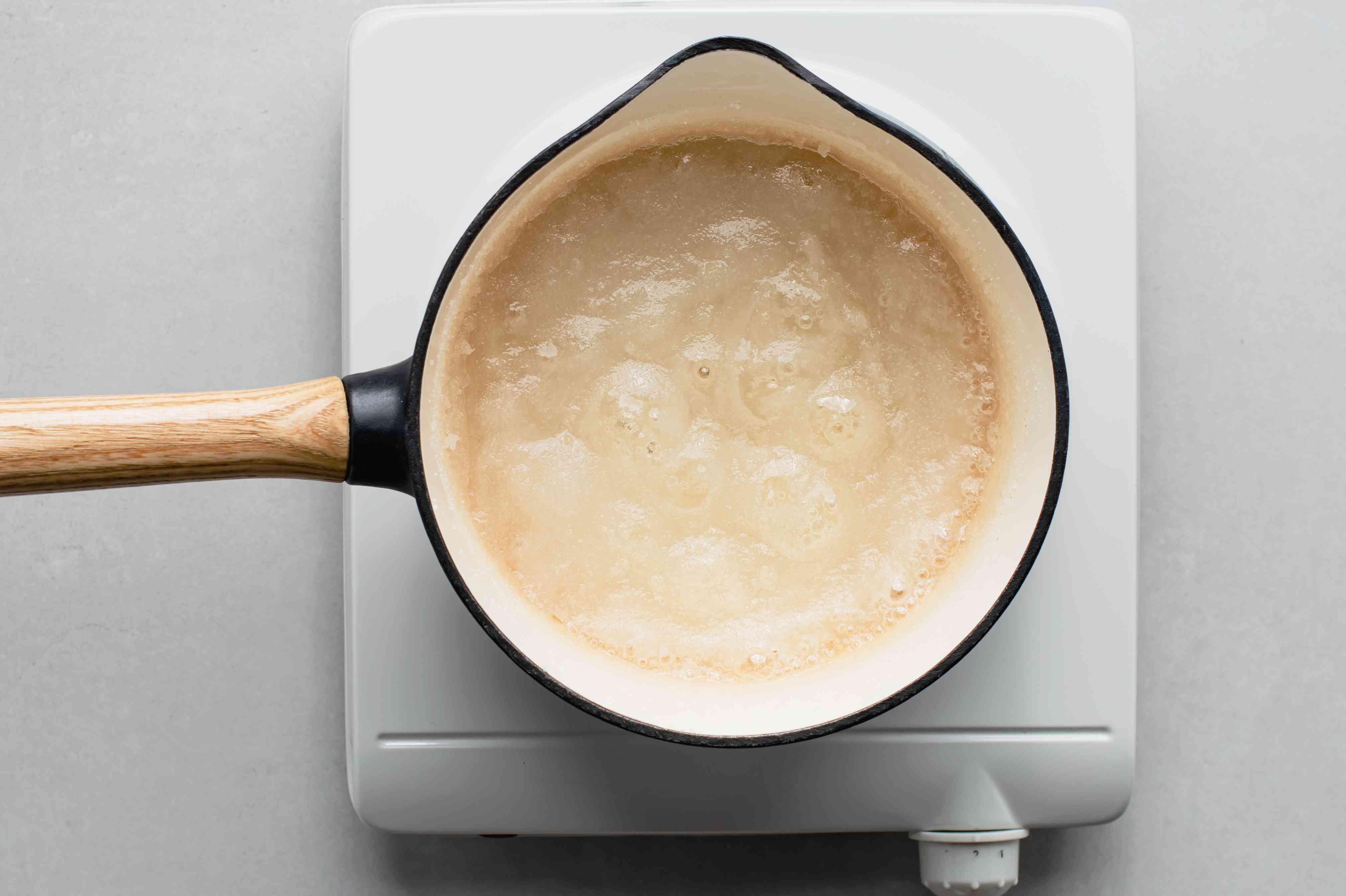 sugar, lemon juice, and water in a saucepan