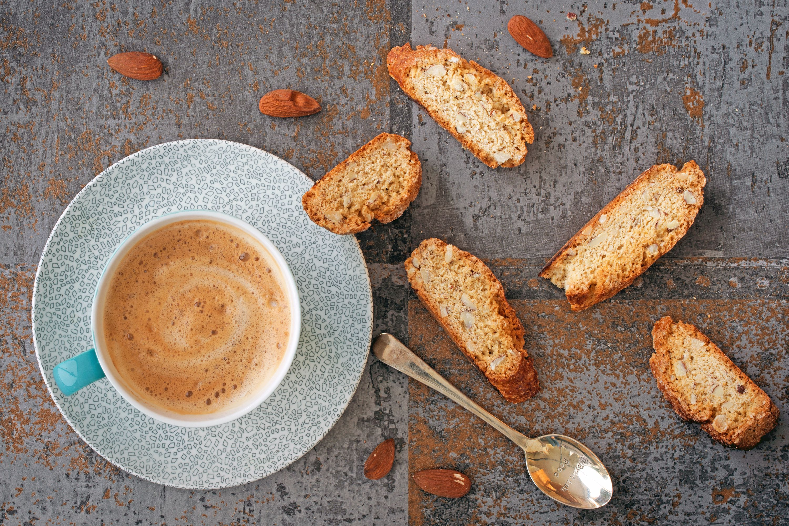 Biscotti with a cup of espresso