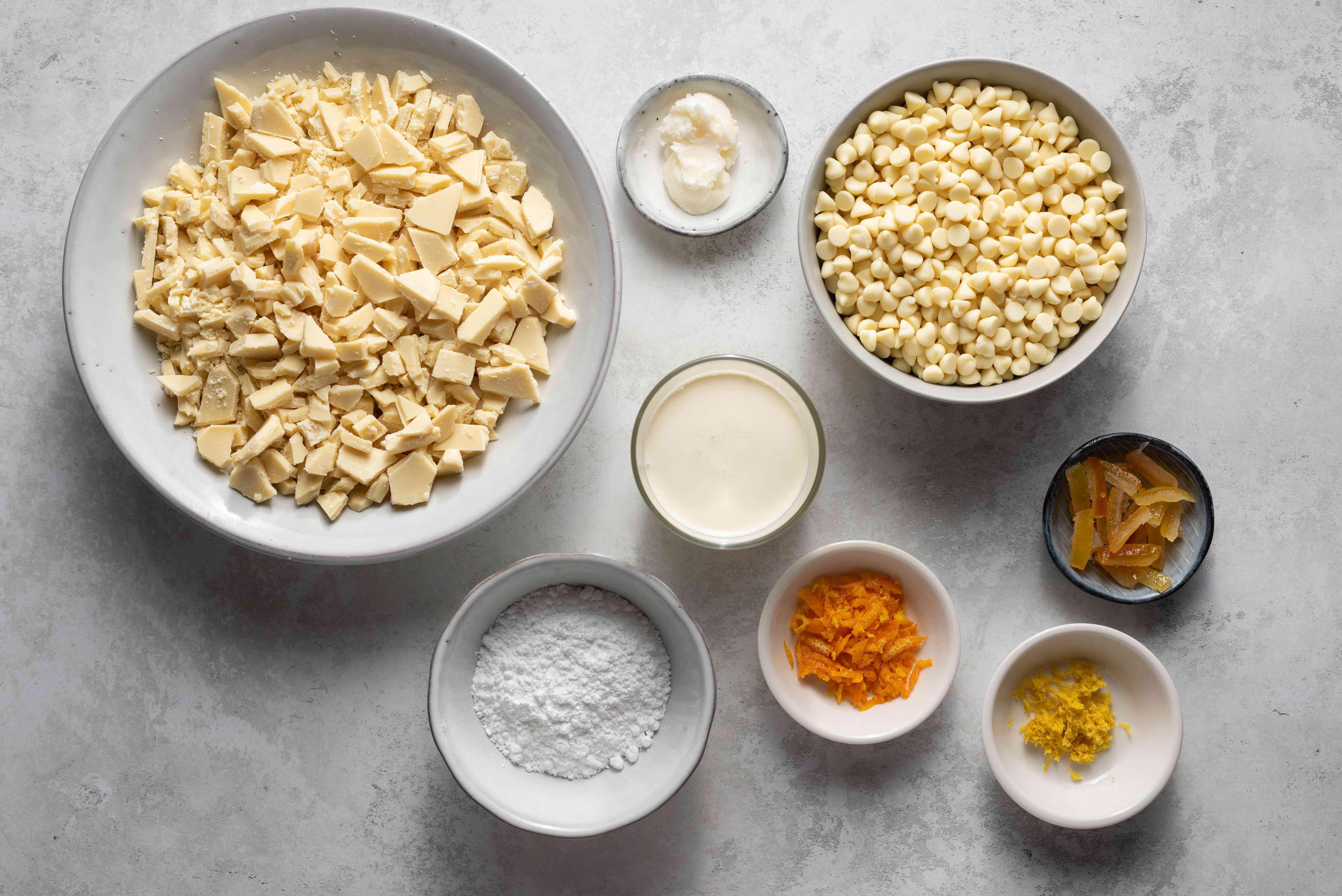 White Chocolate Citrus Truffles ingredients