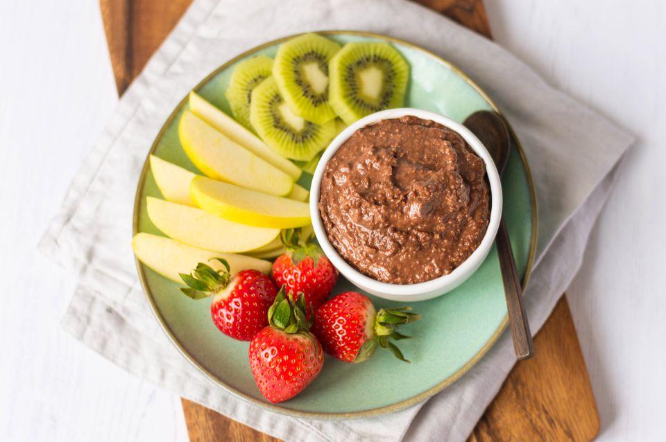 Hummus de chocolate bajo en calorías