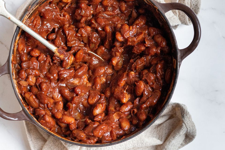 Vegetarian Boston Baked Beans With Molasses