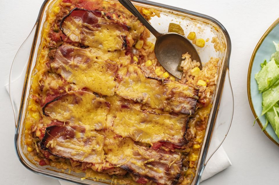 7-layer casserole with ground beef recipe