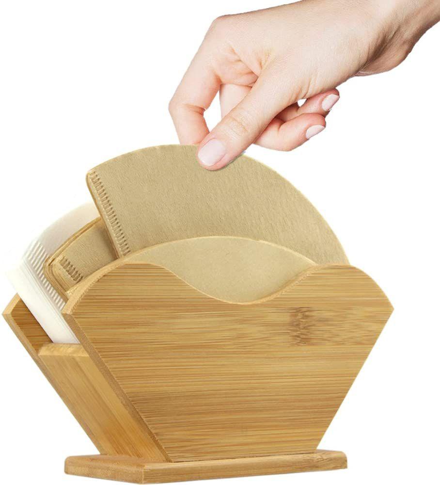 Unibene Bamboo Coffee Filter Holder