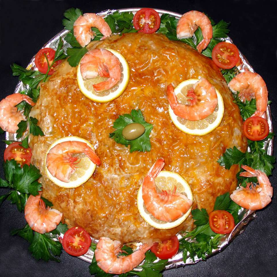 Moroccan Seafood Bastilla with Shrimp