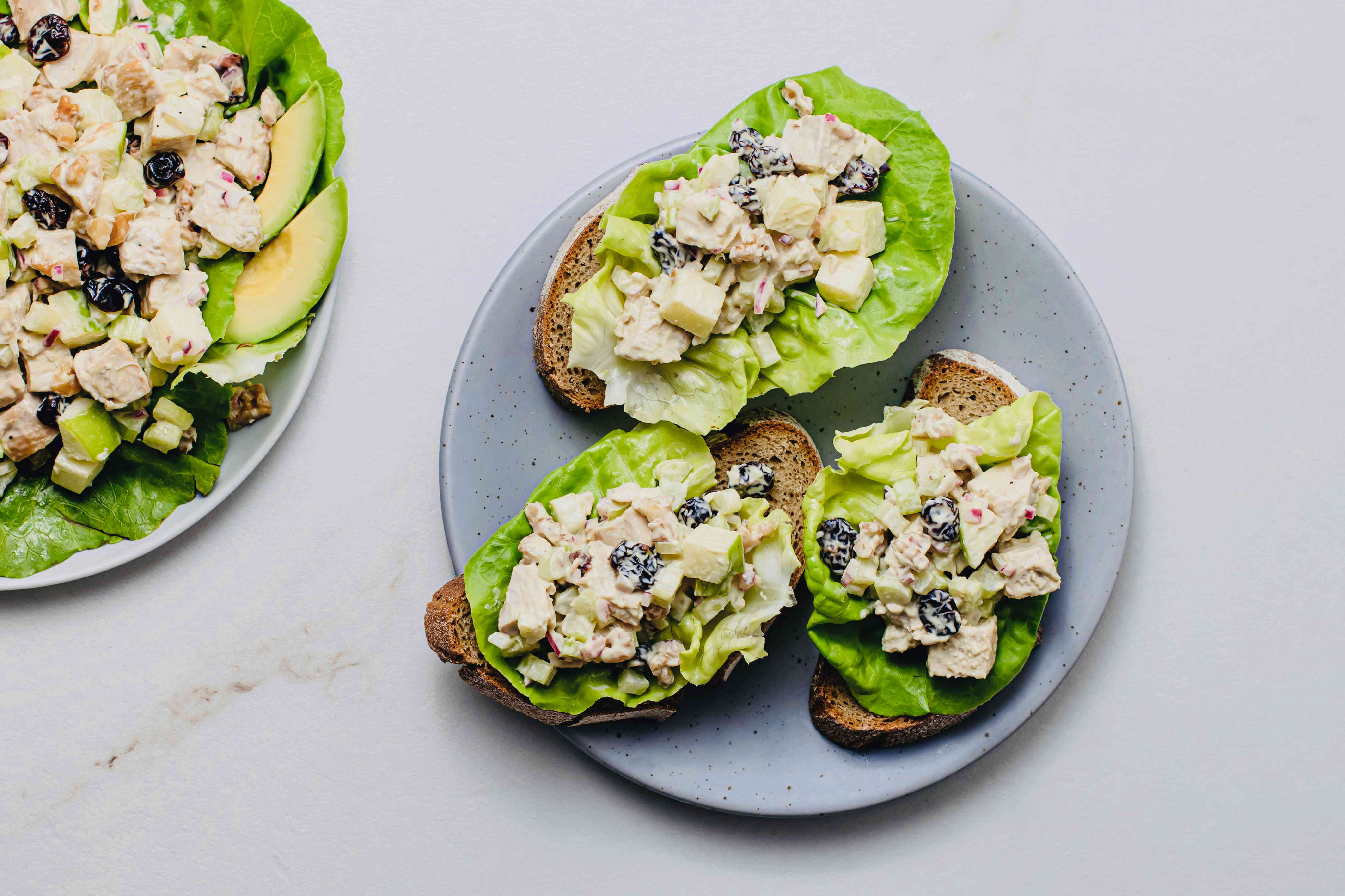 Chicken Salad With Apples and Cranberries recipe, chicken salad on bread