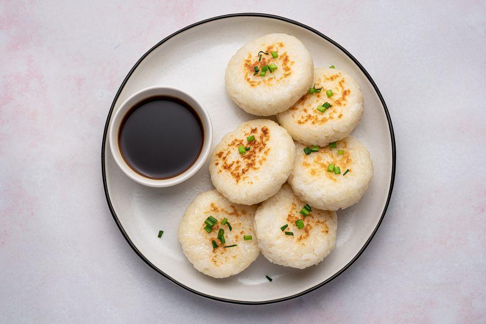 Japanese Pan-Fried Rice Cakes