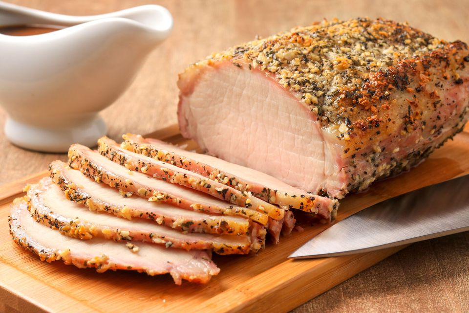 Garlic and herb crusted pork loin