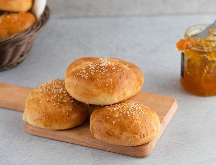 Rich homemade brioche buns