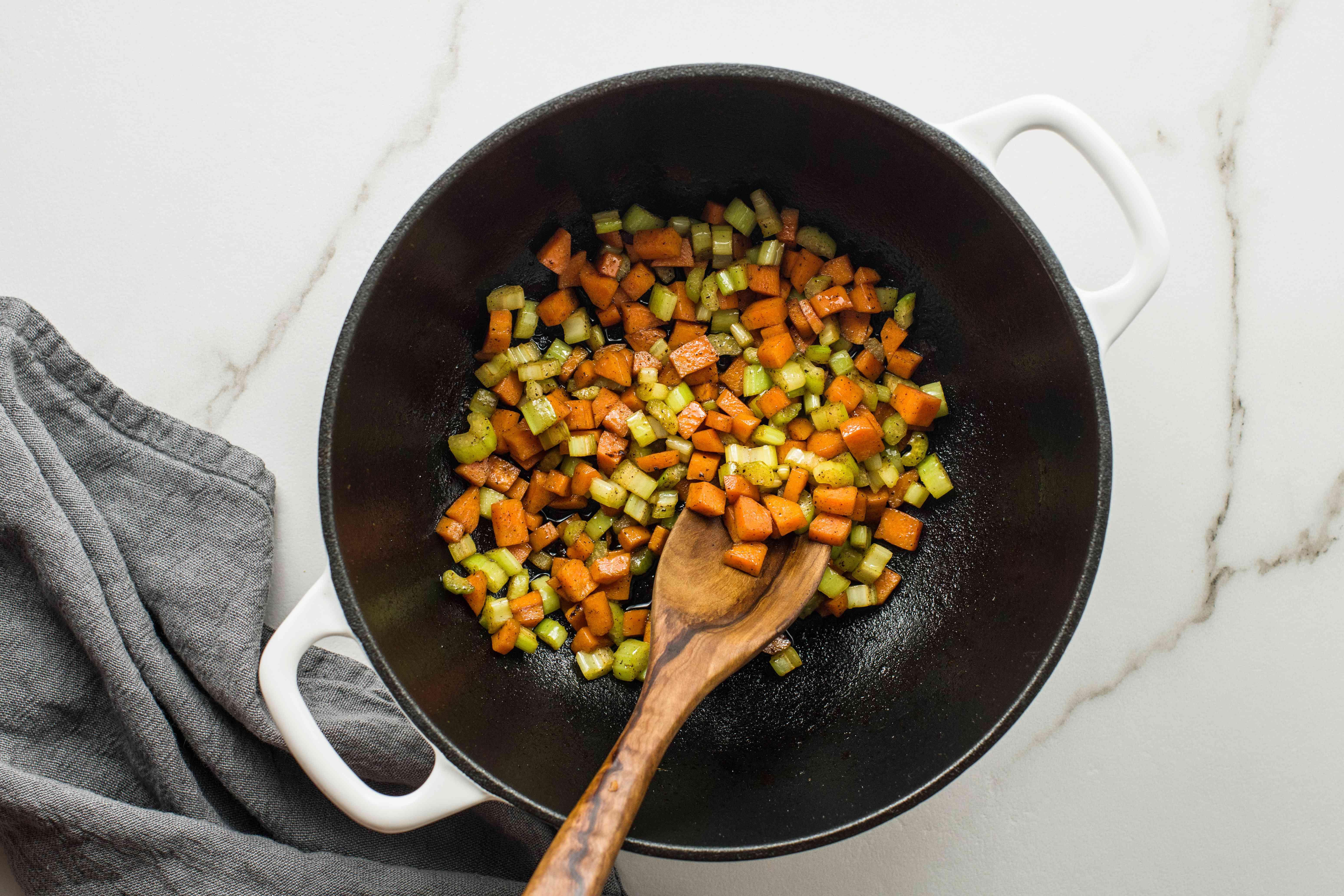 Add diced carrots