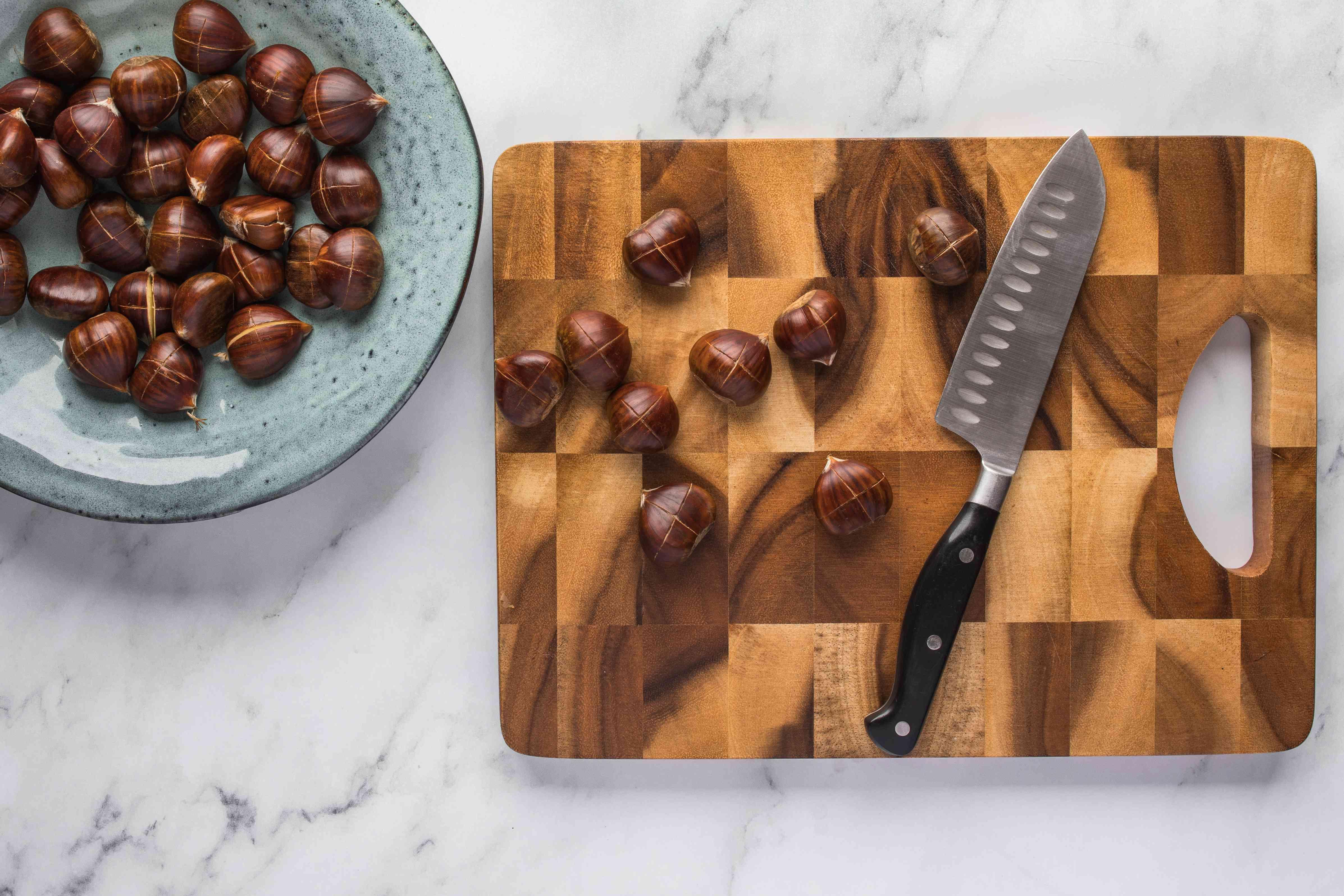 Cut chestnut