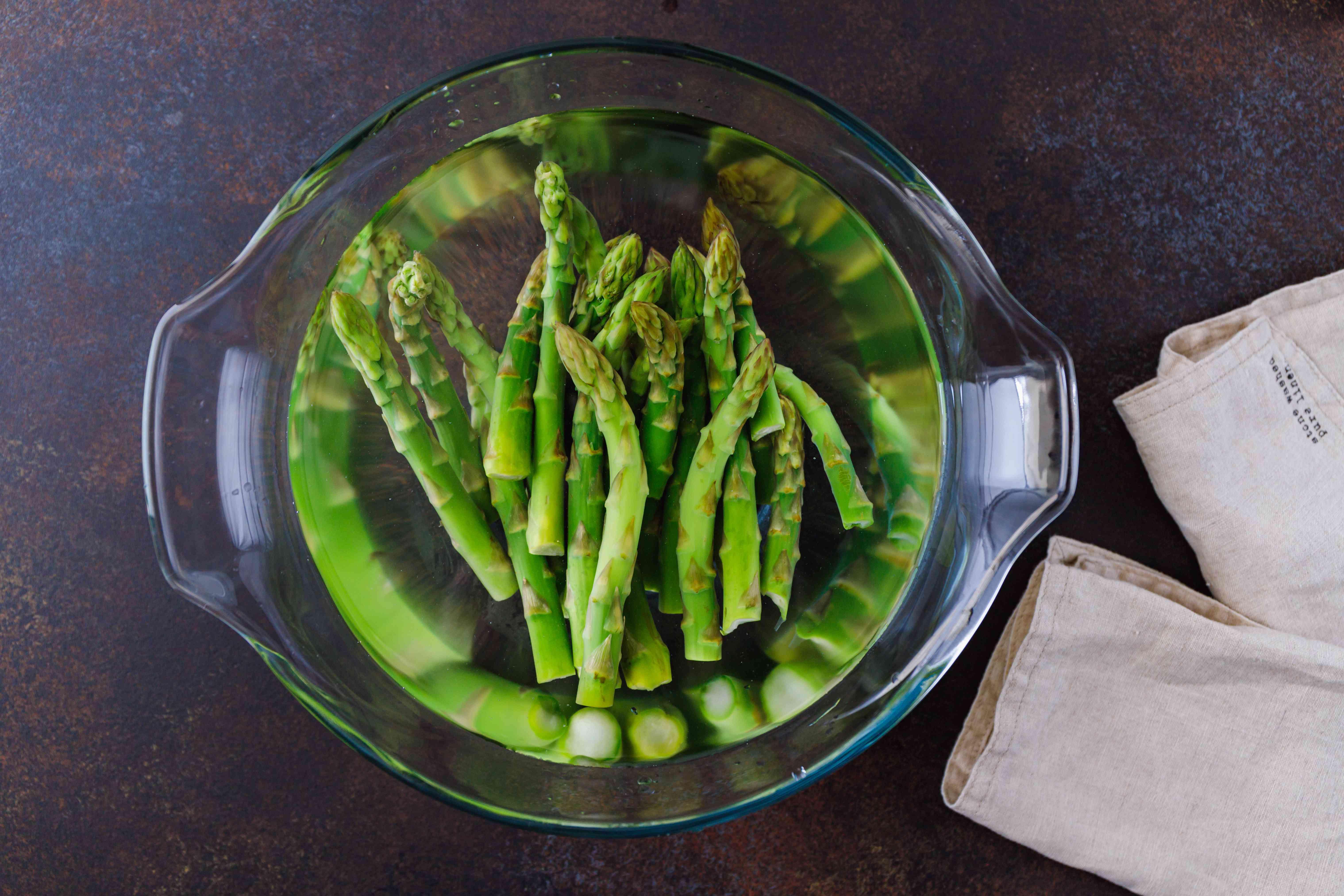 Drain the asparagus