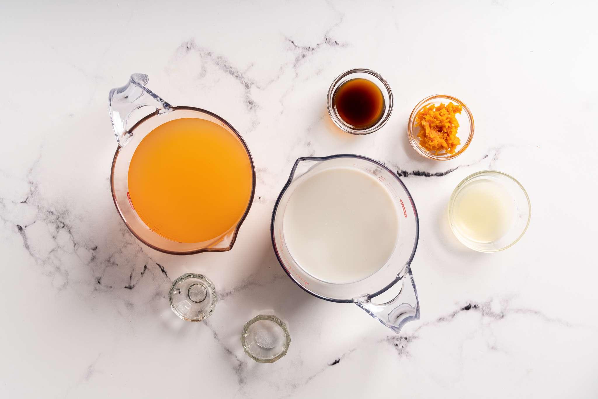 Sugar-Free Low-Carb Orange Sorbet ingredients