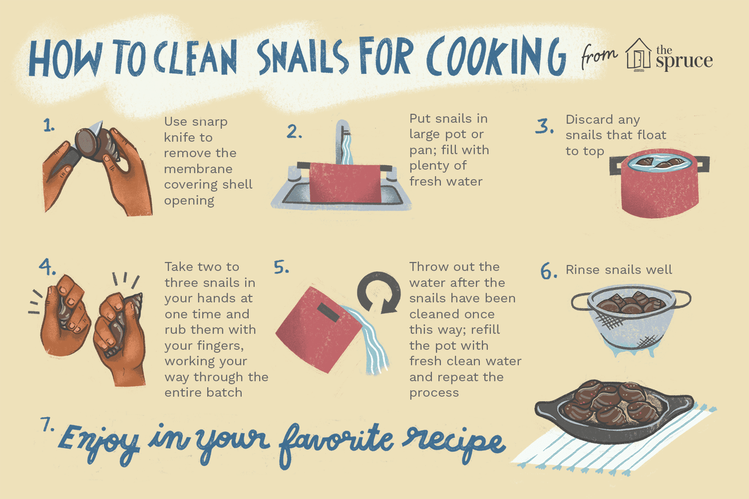 how to cook snails
