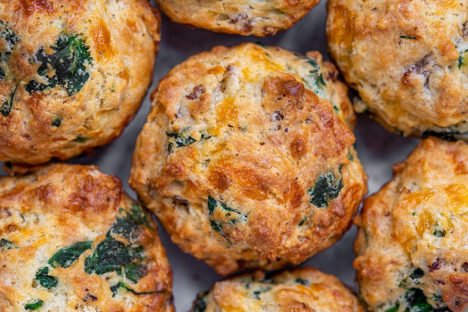 Sausage, Egg, and Cheese Savory Breakfast Muffins