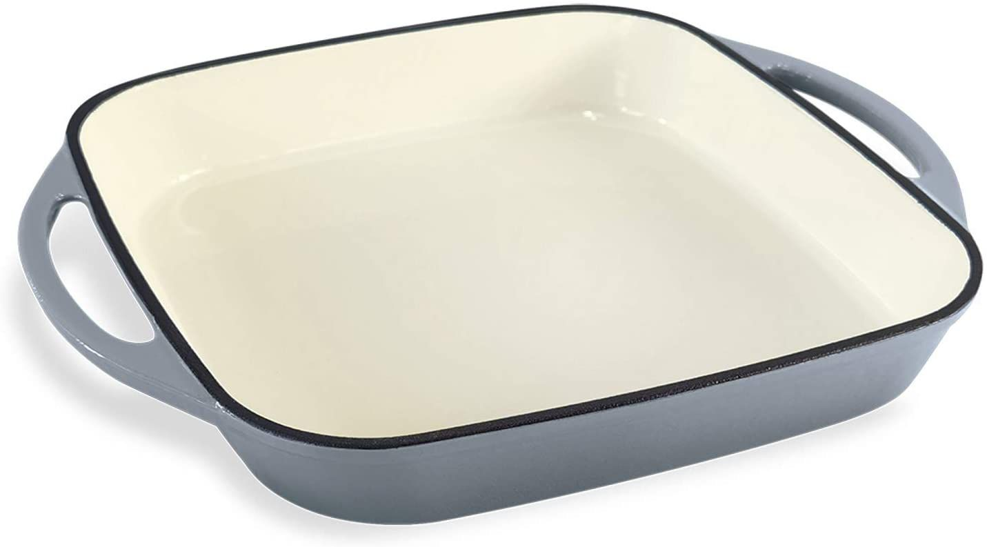 """ChefVentions 10"""" Square Enameled Cast Iron Pan"""