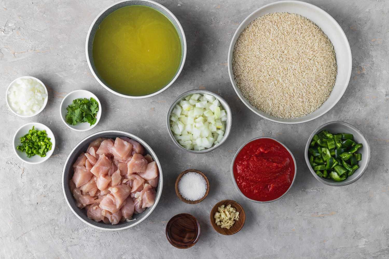 Arroz con Pollo ingredients