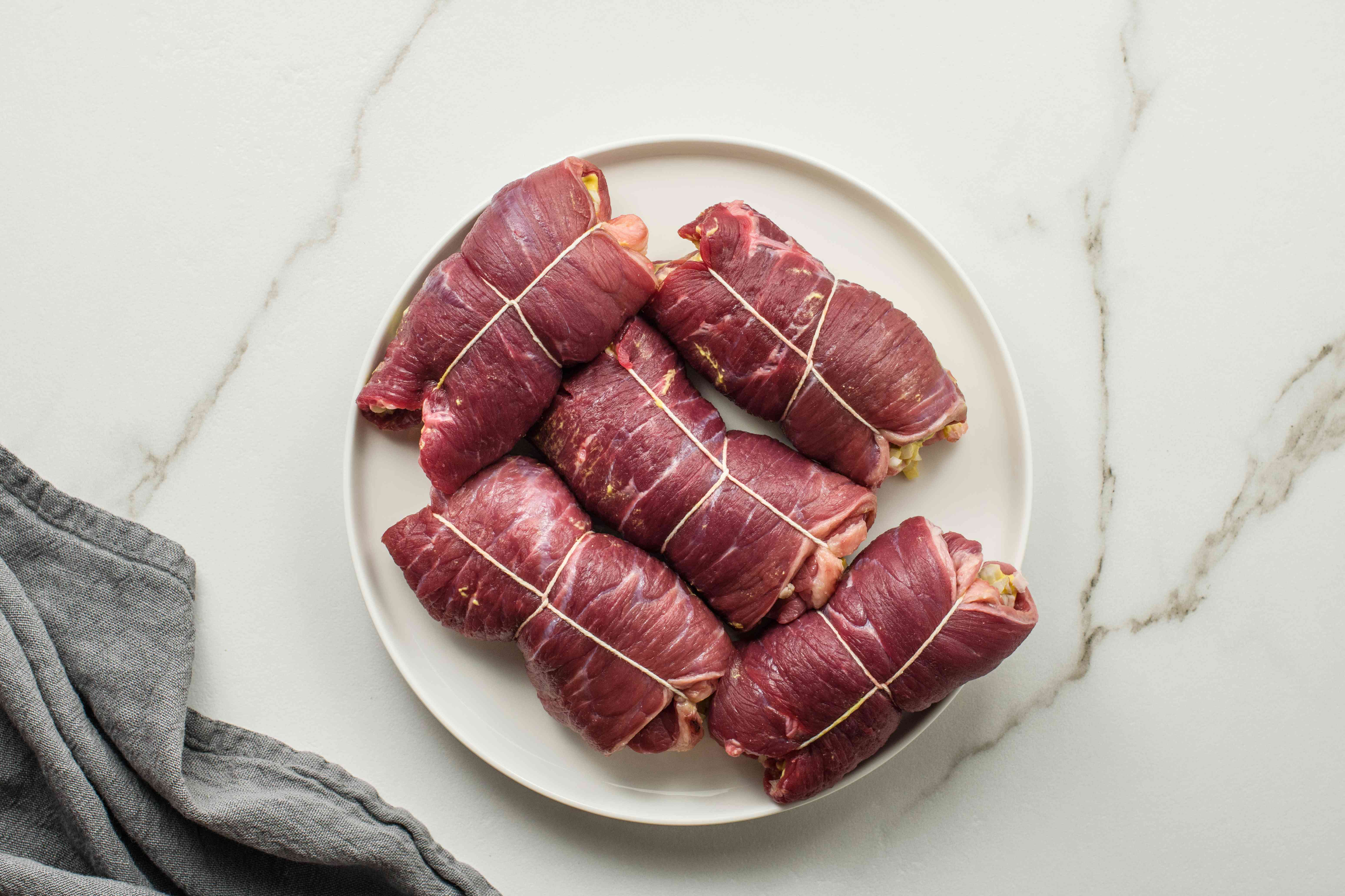 Wrapped beef