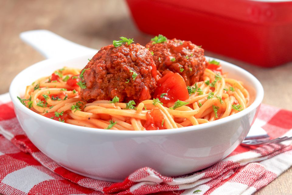Espaguetis y albóndigas de cocción lenta