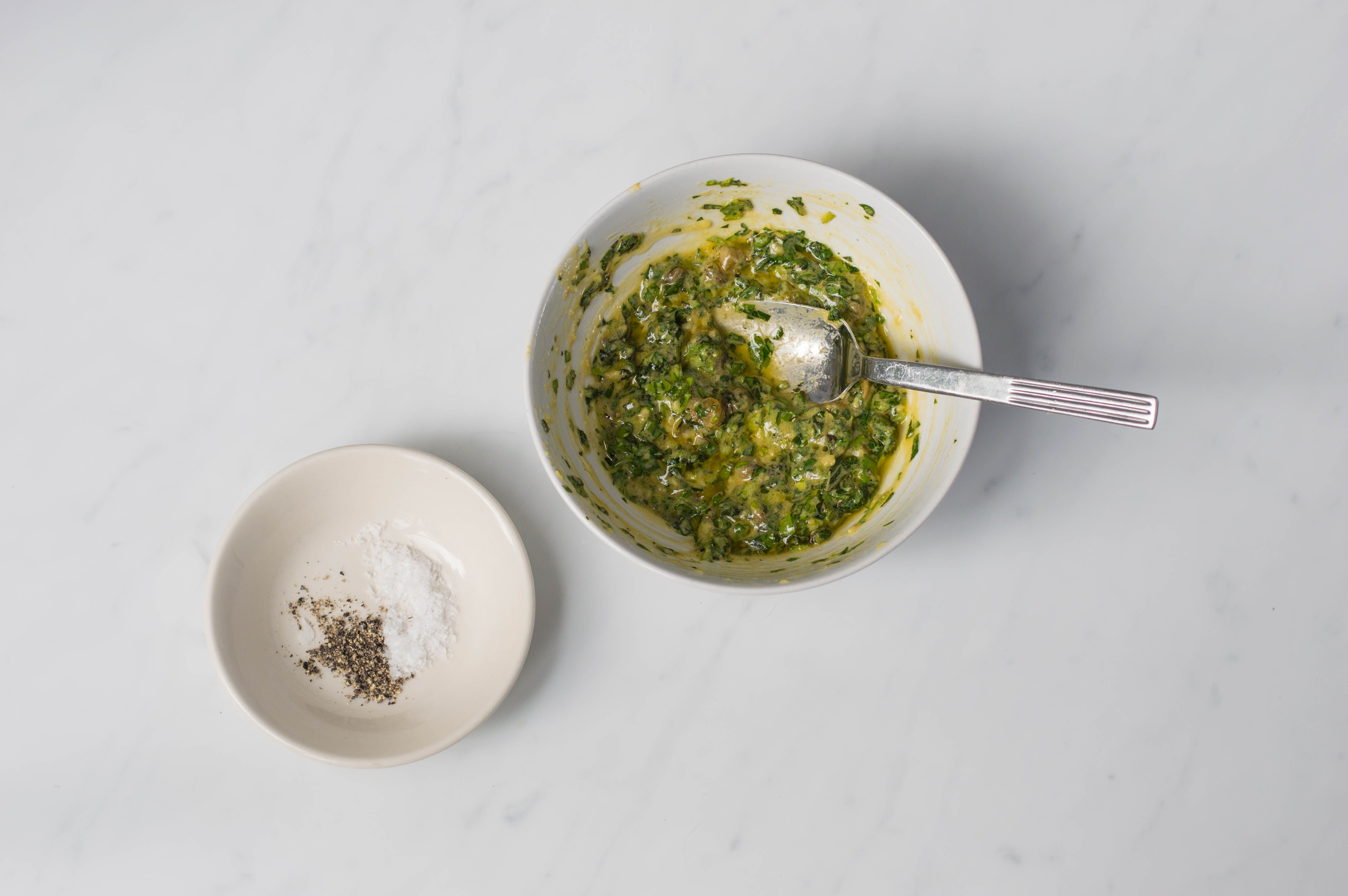 Salt and pepper to add to the salsa verde