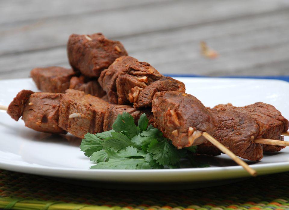 Grilled Beef Anticuchos - Anticuchos de Carne