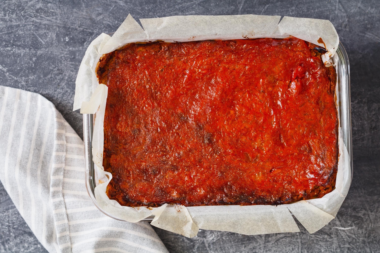 Cooked vegan lentil loaf