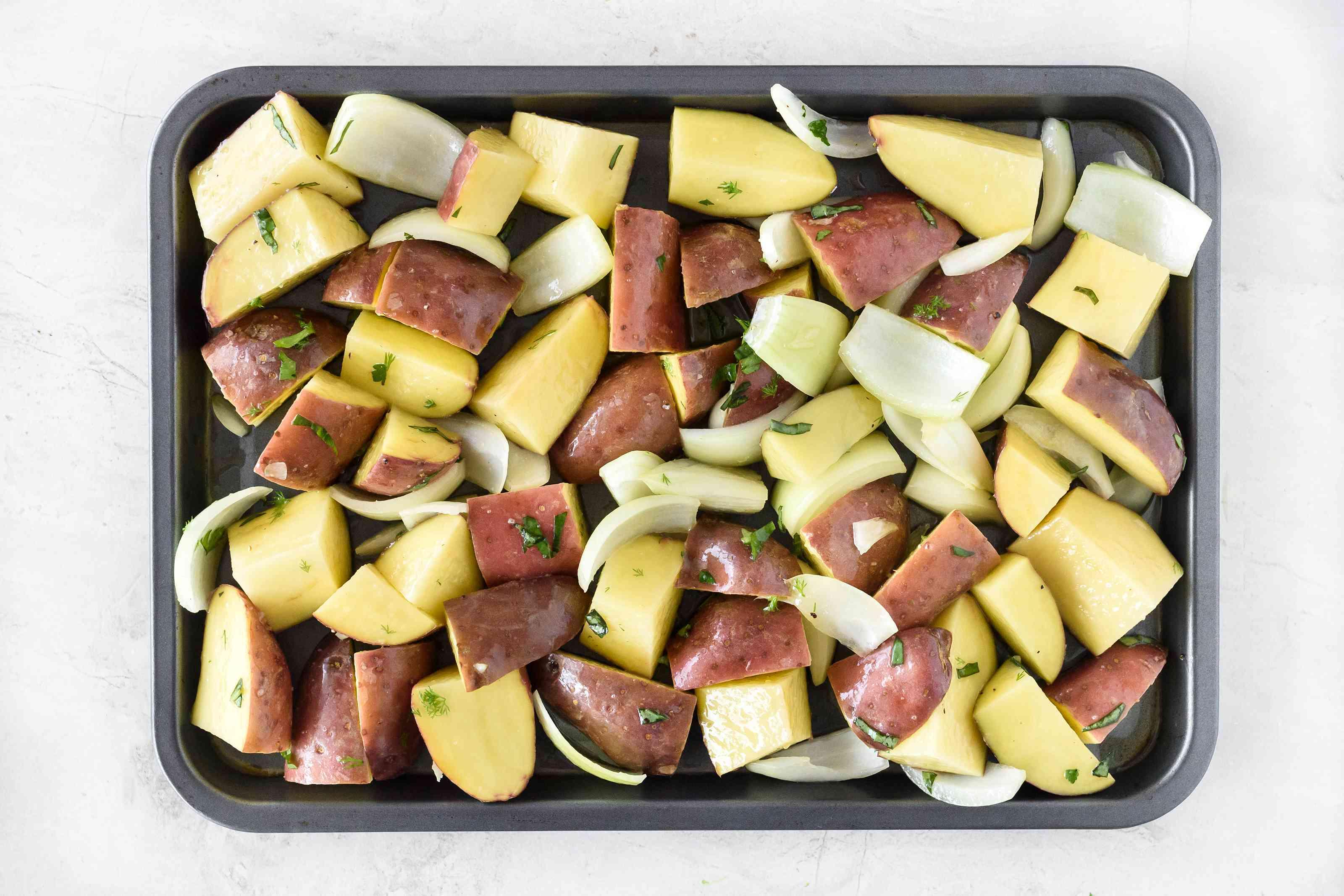 Transfer potatoes