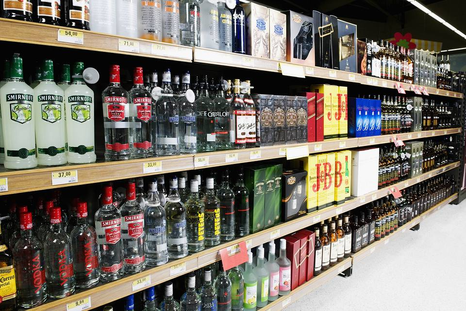 Liquor stores are full of budget-friendly vodka