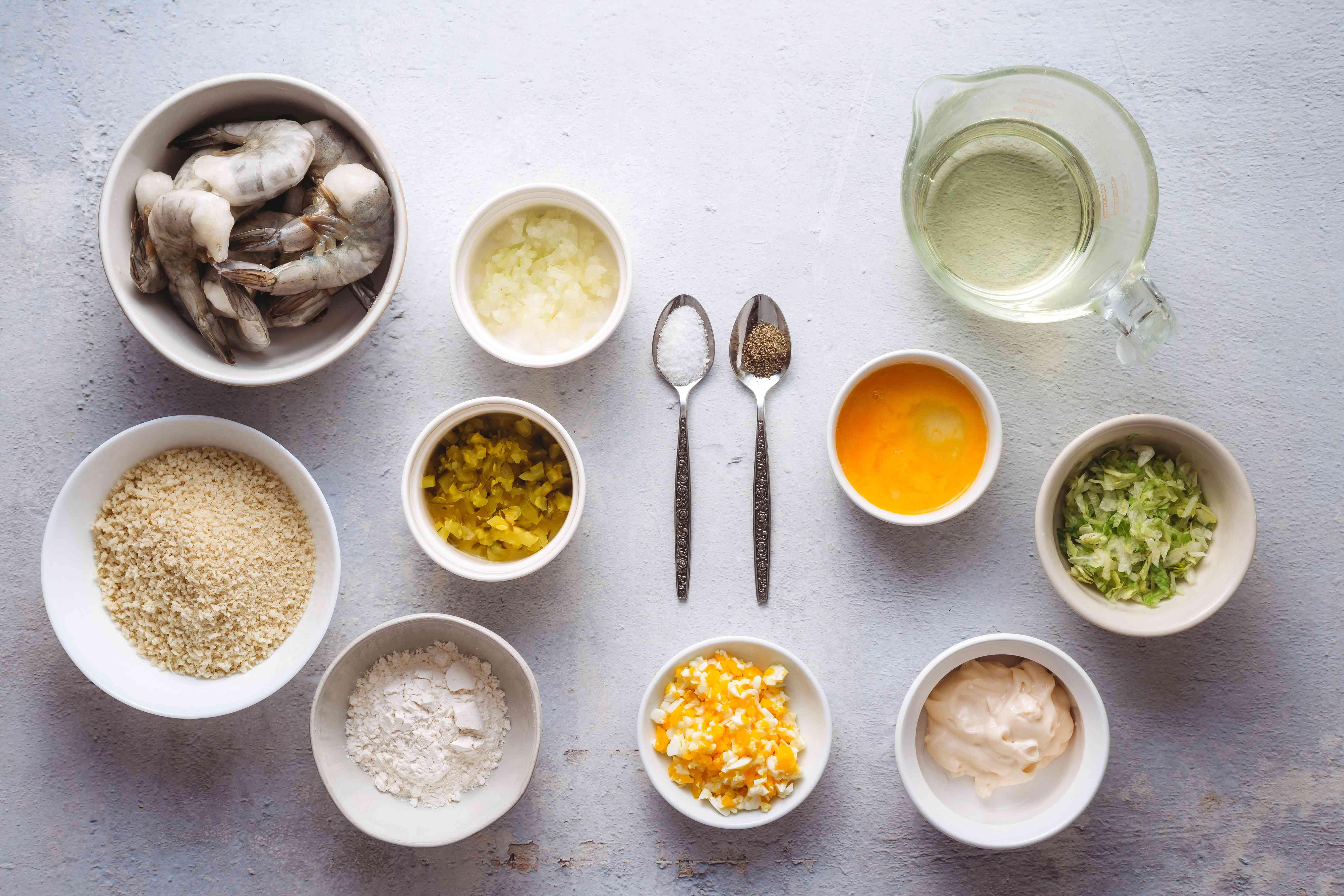 Ebi Fry (Fried Shrimp) ingredients