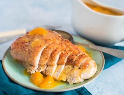 Roasted turkey breast pineapple orange sauce