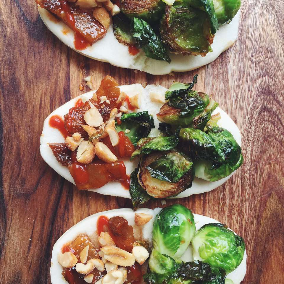 Steam Buns With Pork Belly and Brussels Sprouts