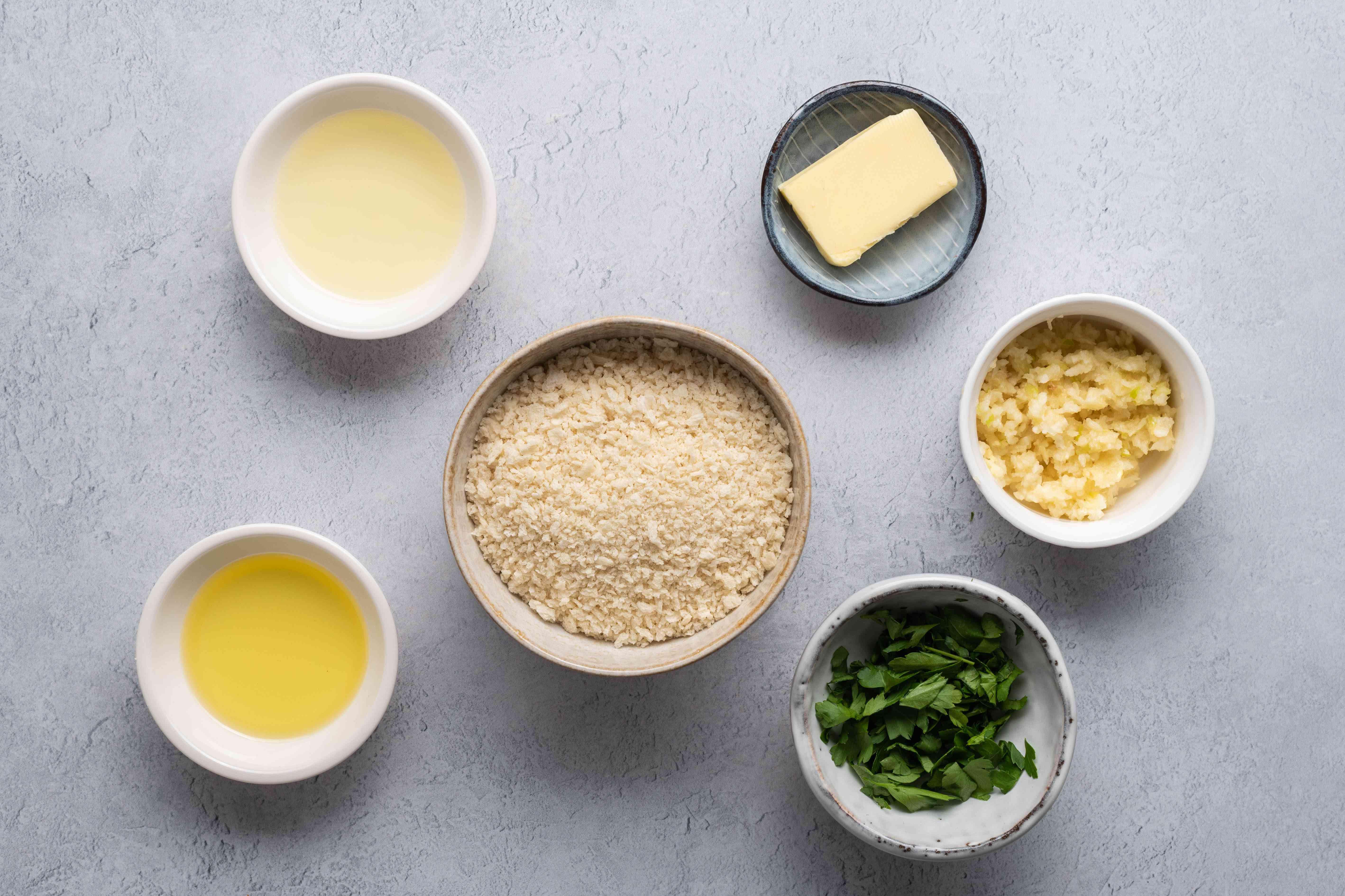 Ingredients for shrimp stuffing