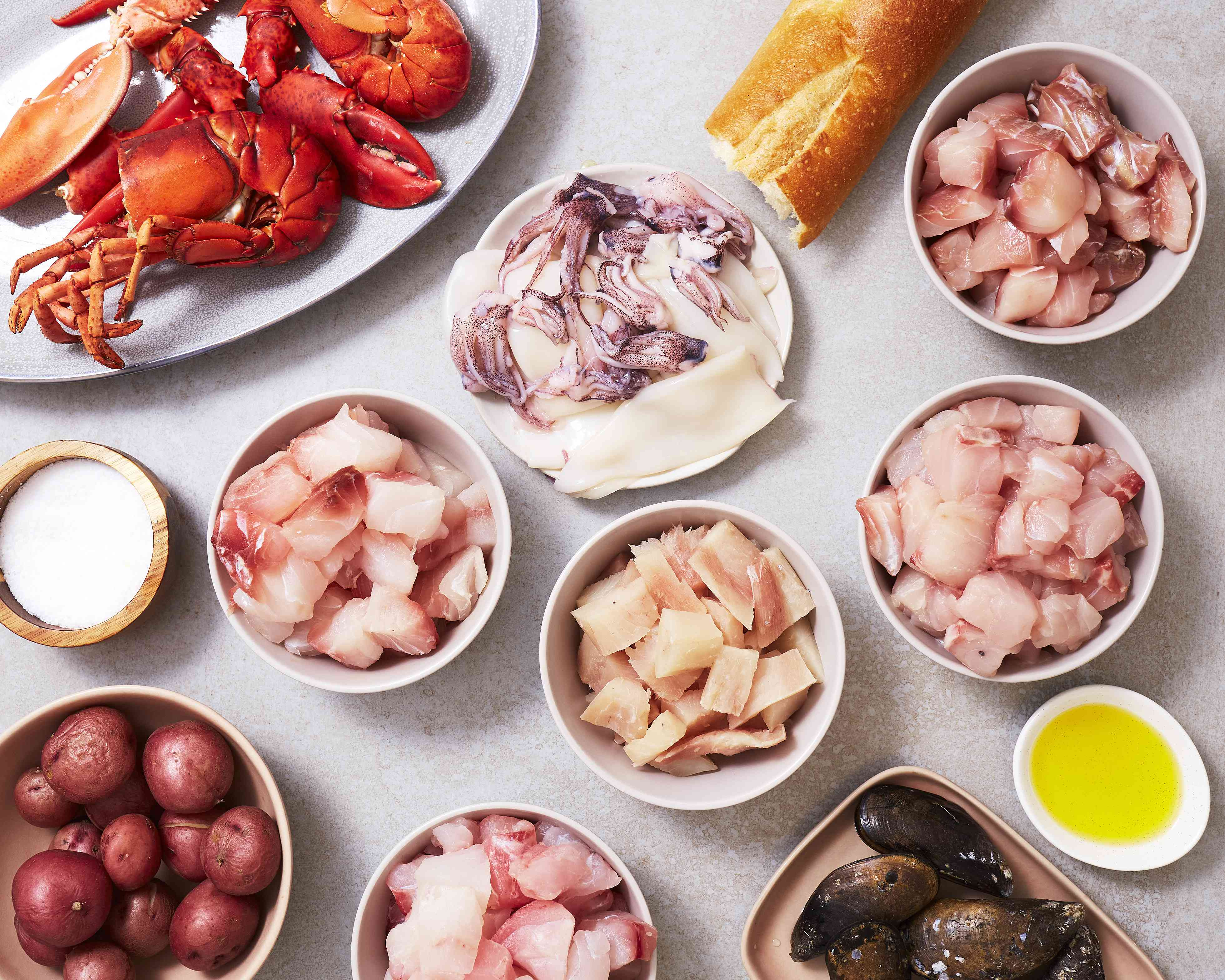 Bouillabaisse ingredients