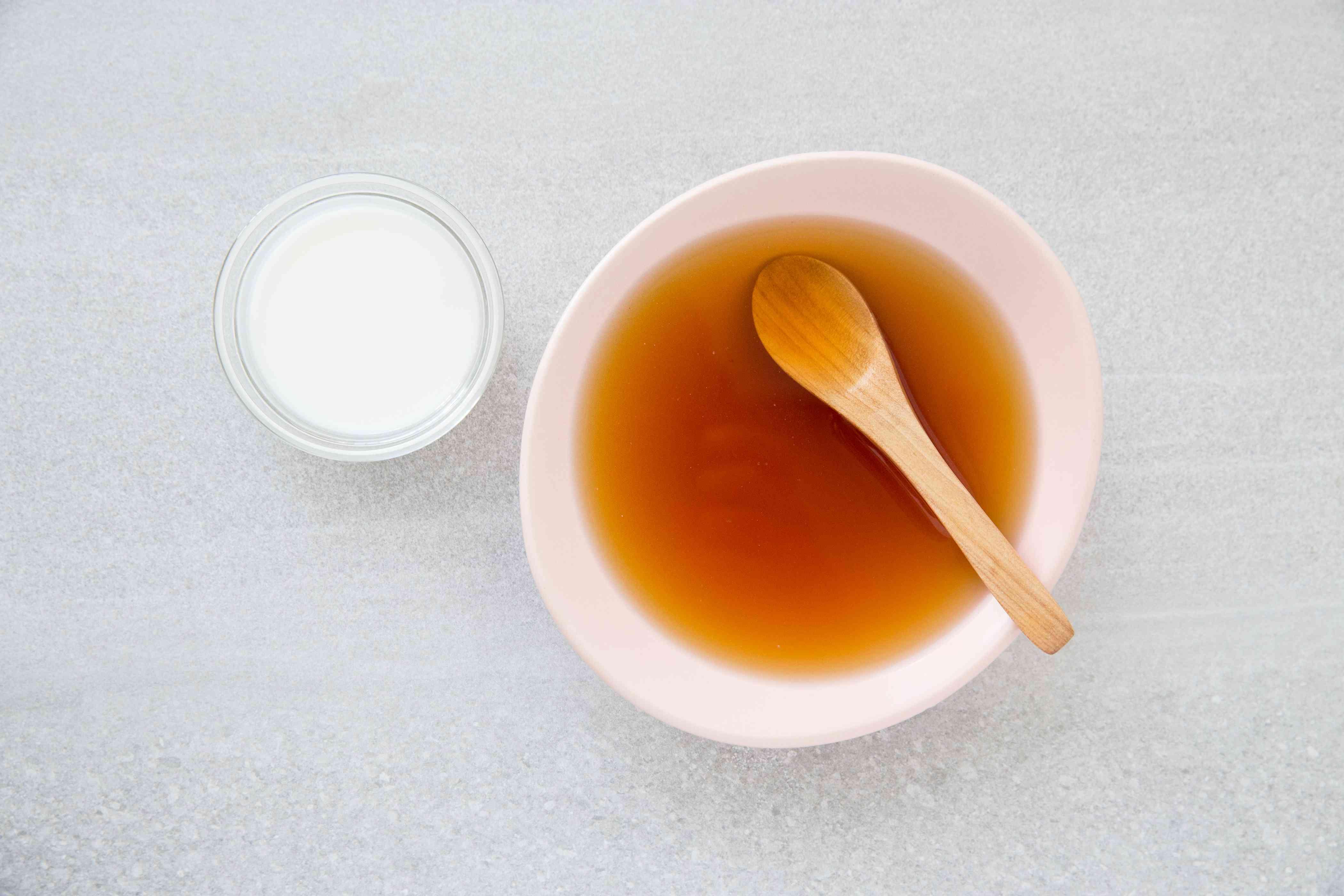 combine the sauce ingredients, cornstarch mixture in a bowl