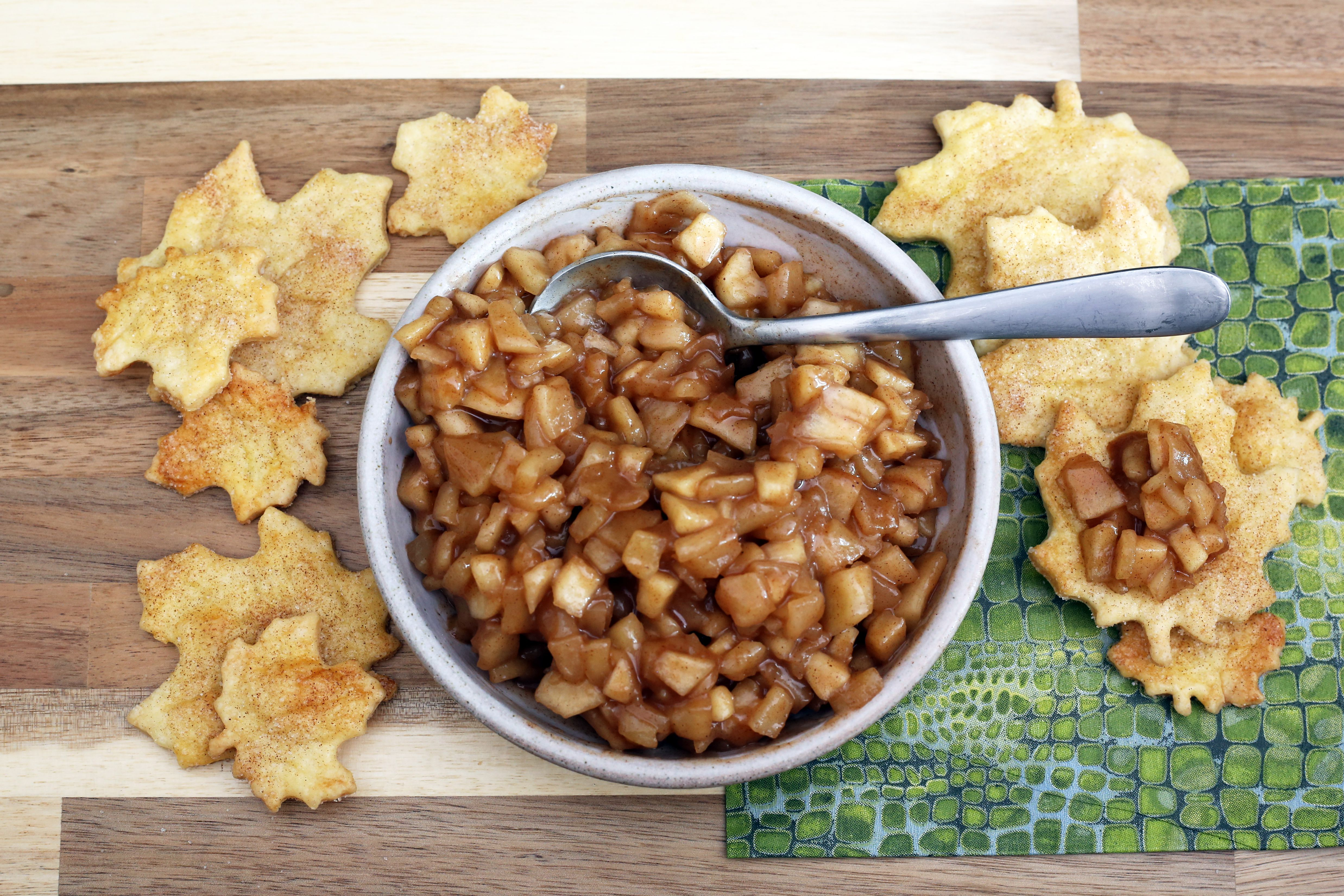 Apple Pie Dip With Piecrust Chips