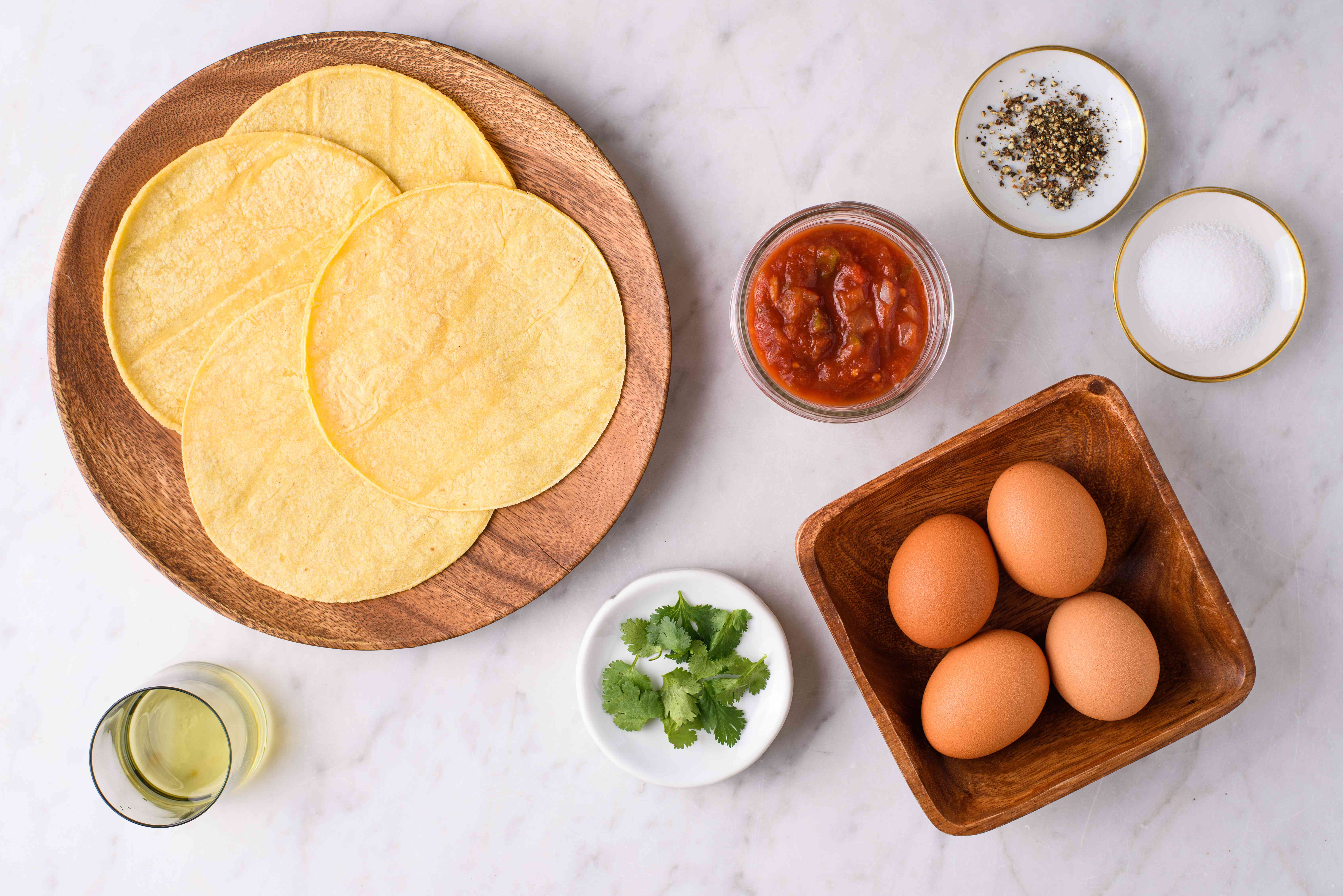 Ingredients for huevos rancheros