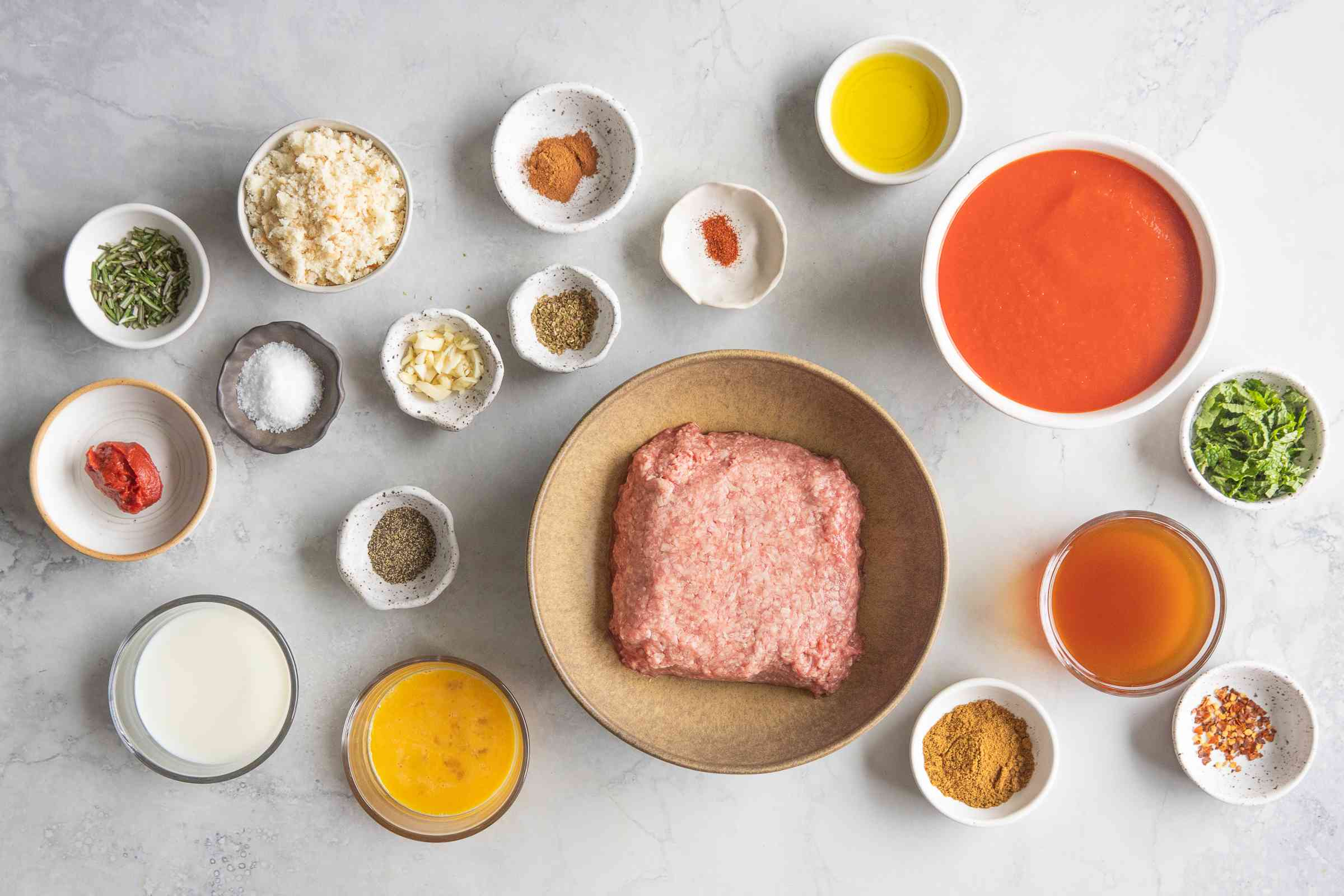 Easy Lamb Meatballs ingredients