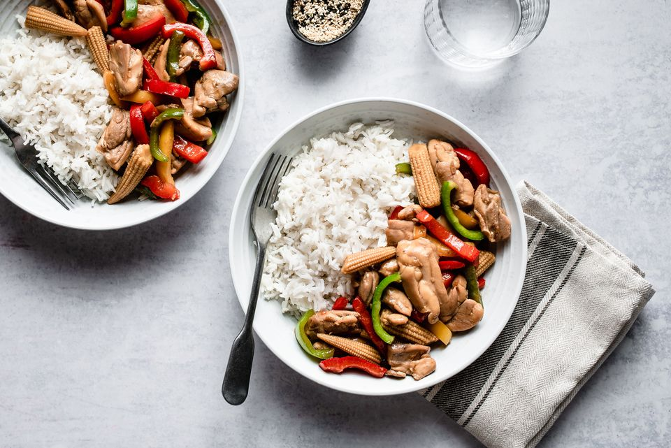 Chicken stir fry with bell peppers recipe