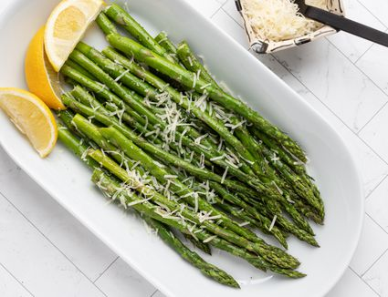 asparagus with lemon, garlic, and parmesan cheese