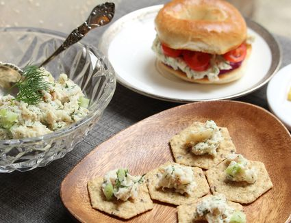 Whitefish Salad on crackers and bagels