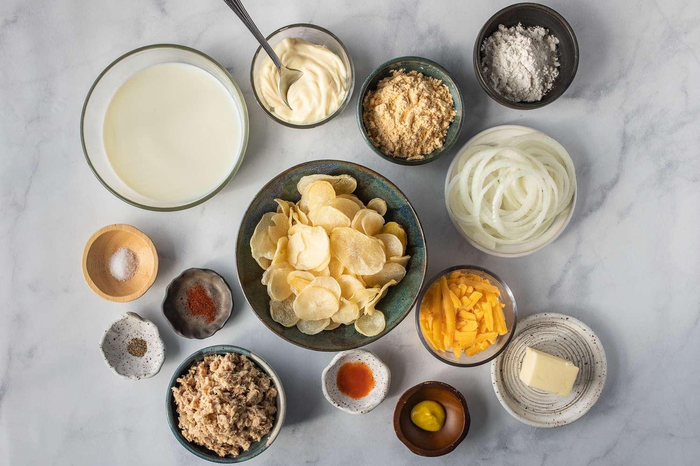 Easy Tuna Potato Bake ingredients