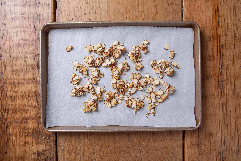 Make the candied almonds for pumpkin chiffon pie