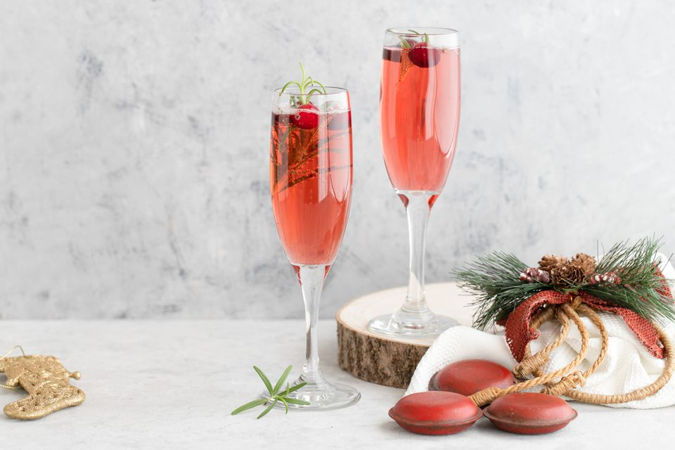 Pine infused Christmas mimosa recipe