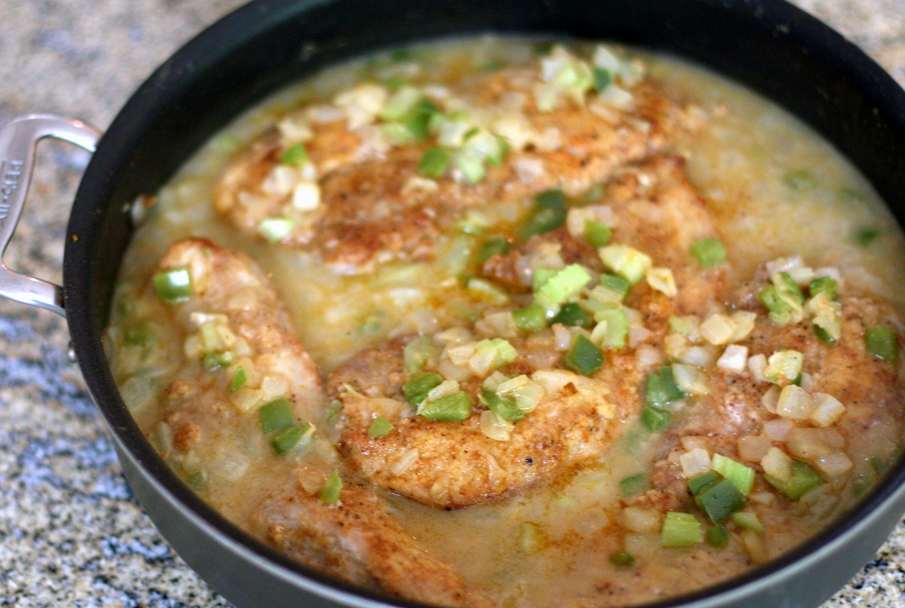 Cajun-Style Smothered Pork Chops