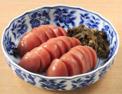 Pickled Red Radish Slice Bowl Japanese Food