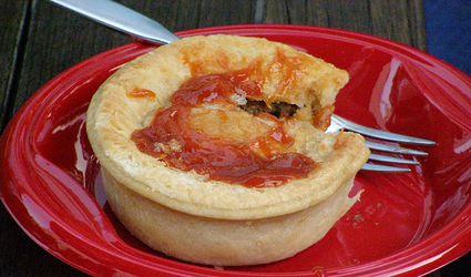 Traditional Aussie meat pie