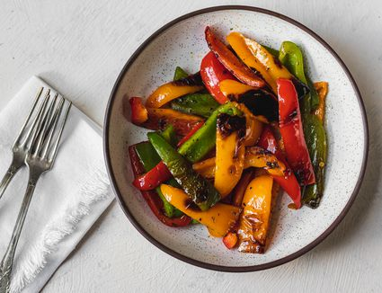 Pan roasted peppers recipe