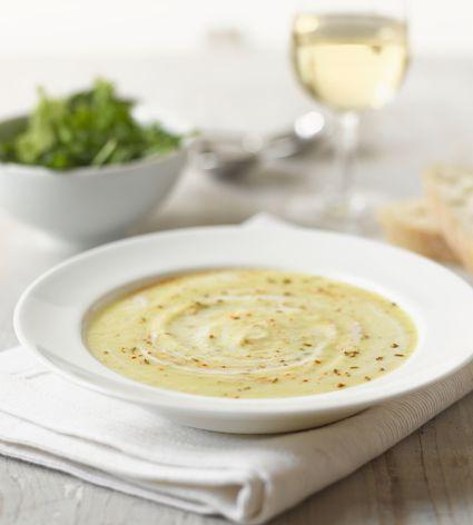 Roasted celeriac parsnip soup