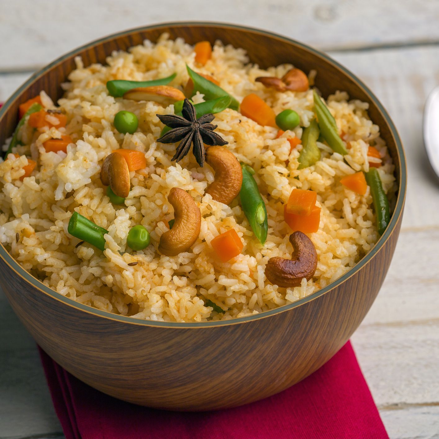 Vegetable Fried Rice With Cashews