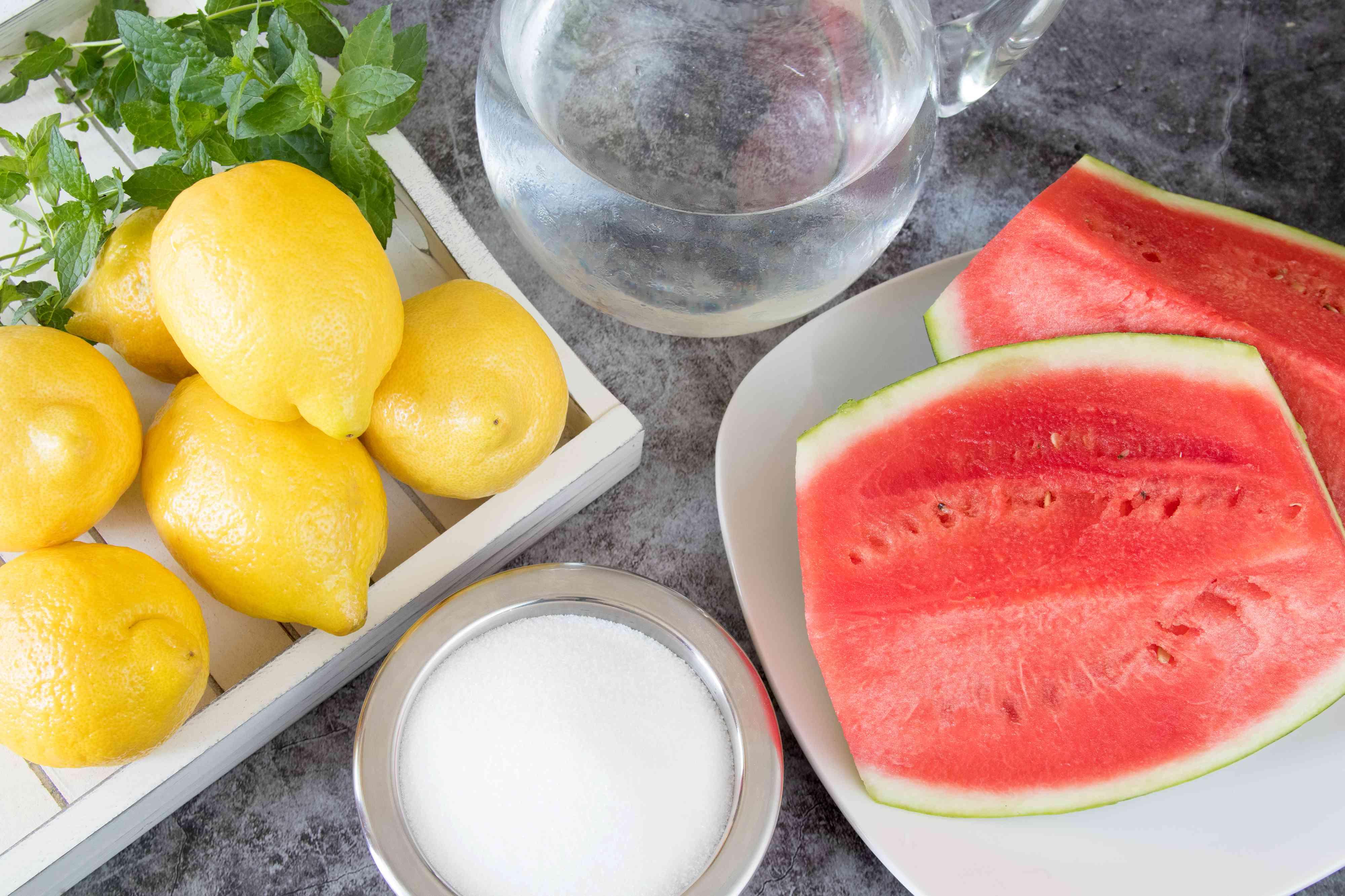 Ingredients for Fresh Watermelon Lemonade